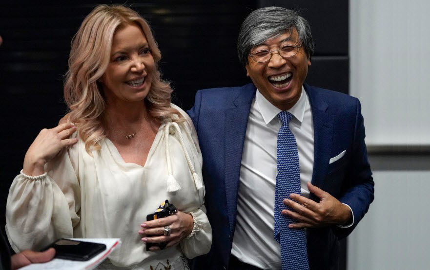 Lakers CEO Jeanie Buss talks business (and championships) at team's high-tech El Segundo home